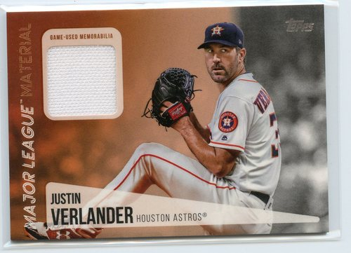 Photo of 2019 Topps Major League Materials #MLMJV Justin Verlander