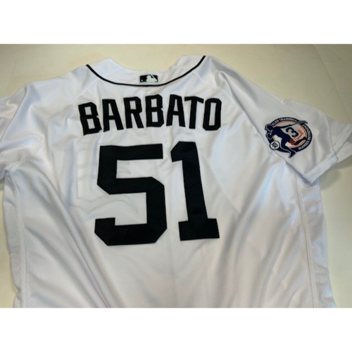 Photo of Team-Issued Alan Trammell Number Retirement Jersey: Johnny Barbato
