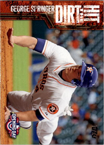 Photo of 2015 Topps Opening Day Hit the Dirt #HTD09 George Springer