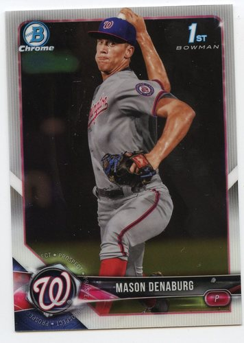 Photo of 2018 Bowman Chrome Draft #BDC164 Mason Denaburg
