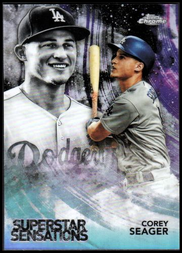 Photo of 2018 Topps Chrome Superstar Sensations Refractors #SS5 Corey Seager