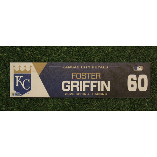 Photo of Game-Used Spring Training Locker Tag: Foster Griffin #60