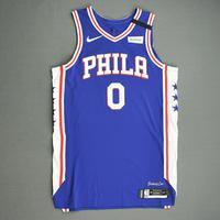 Josh Richardson - Philadelphia 76ers - Game-Worn Icon Edition Jersey - 2019-20 NBA Season Restart with Social Justice Message