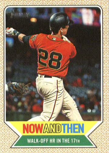 Photo of 2017 Topps Heritage Now and Then #NT13 Buster Posey
