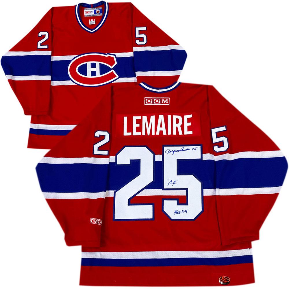 Jacques Lemaire Autographed Montreal Canadiens CCM Jersey w/COCO & HOF 84 Inscription
