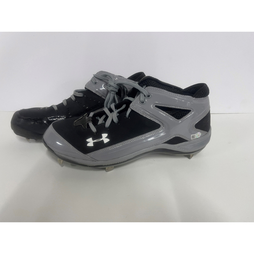 Photo of Team- Issued Cleats- Under Armour- Left and Right- Black and Grey
