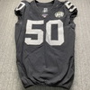 London Games - Raiders Nicholas Morrow Game Used Jersey (11/24/20) Size 42 W/ AFL Eternal Flame 60 Year Patch