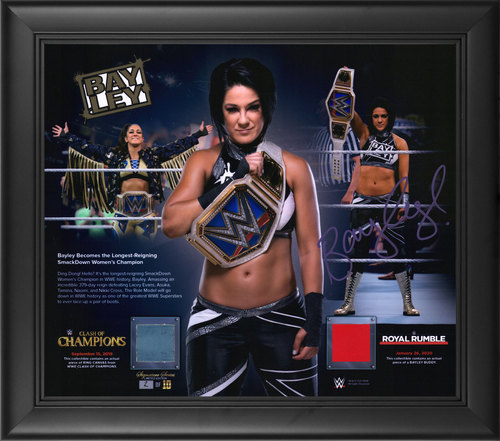 Photo of Bayley SIGNED Longest Reigning Smackdown Women's Champion Limited Edition Plaque(Random Number)