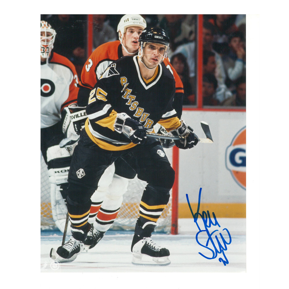 KEVIN STEVENS Signed Pittsburgh Penguins 8 X 10 Photo - 70268 A