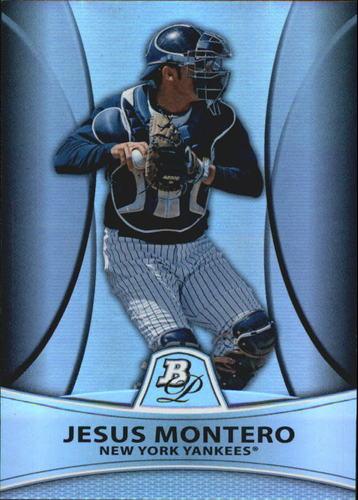 Photo of 2010 Bowman Platinum Prospects Refractors Thick Stock #PP4 Jesus Montero