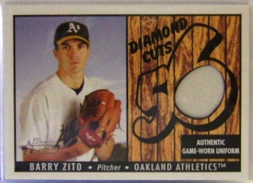 Photo of 2003 Bowman Heritage Diamond Cuts Relics #BZ Barry Zito Uni