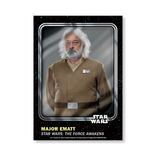 Major Ematt 2016 Star Wars Card Trader Base Poster - # to 99