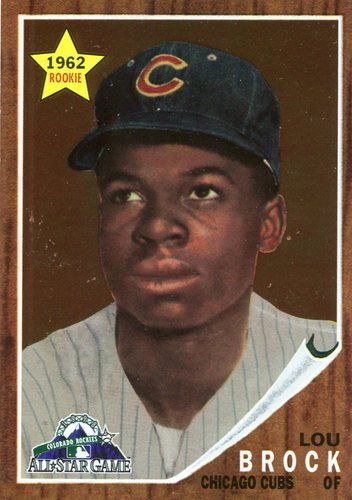 Photo of 1998 FanFest Brock #1 Lou Brock/1962 Topps