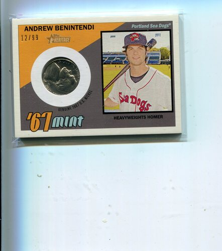 Photo of 2016 Topps Heritage Minors '67 Mint Relics  Andrew Benintendi 12/99