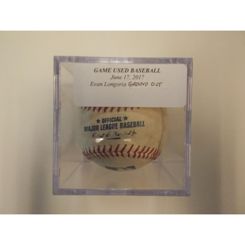 Game-Used Baseball: Evan Longoria Ground Out