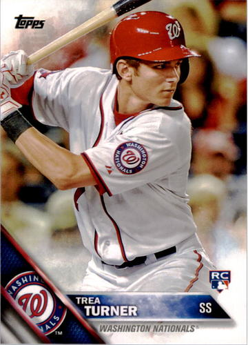 Photo of 2016 Topps #103 Trea Turner Rookie Card