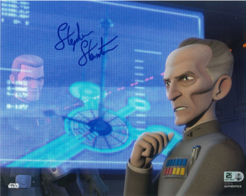Stephen Stanton as Grand Moff Tarkin 8x10 Autographed in Blue Ink Photo