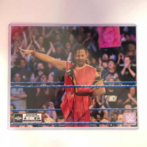 Photo of Shinsuke Nakamura SIGNED 8 x 10 Limited Edition WrestleMania Photo (#1 of 34)