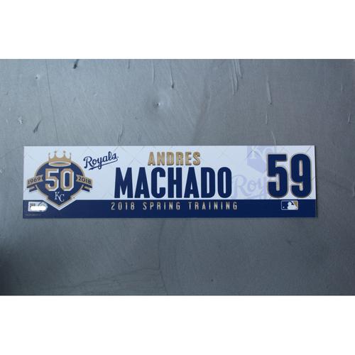 Photo of Spring Training Locker Nameplate: Andres Machado