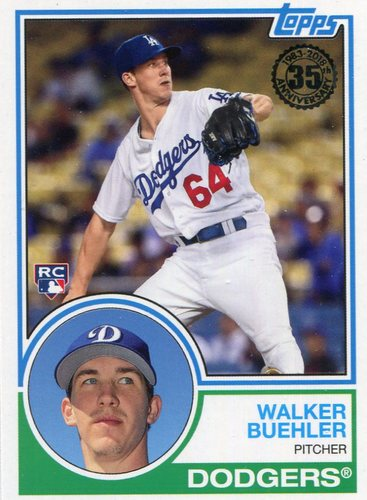 Photo of 2018 Topps '83 Rookies #832 Walker Buehler