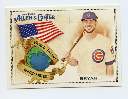 Photo of 2018 Topps Allen and Ginter World Talent #WT49 Kris Bryant