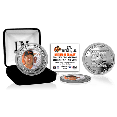 Photo of Cal Ripken Jr. Baseball Hall of Fame Silver Color Coin