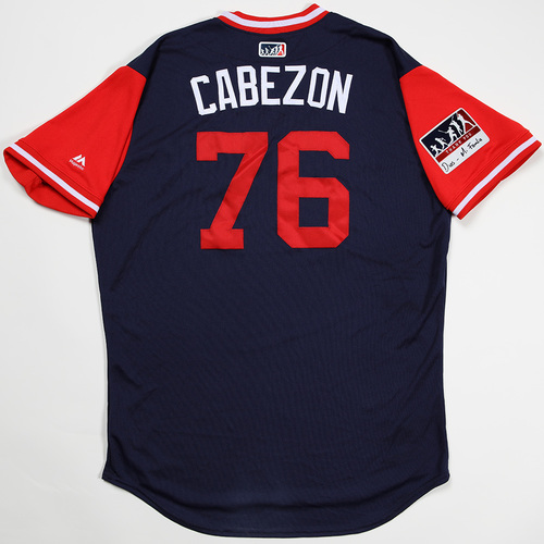 "Photo of Hector ""Cabezon"" Velázquez Boston Red Sox Game-Used 2018 Players' Weekend Jersey"