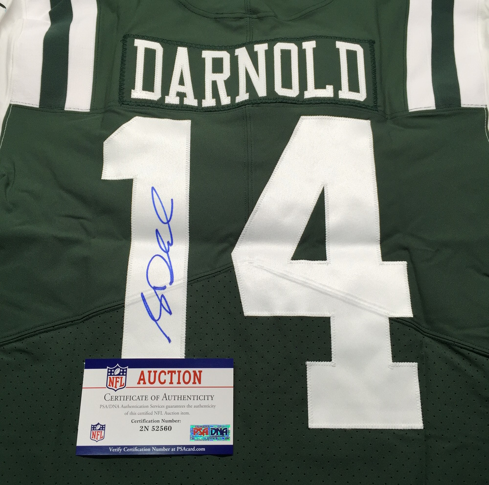 free shipping f5f2f 5ddef NFL Auction | NFL - Jets Sam Darnold Signed Authentic Jersey ...