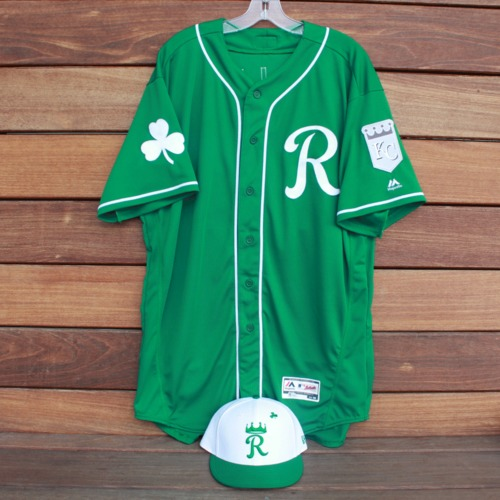 Photo of Game-Used Saint Patrick's Day Jersey and Cap: Sam McWilliams (KC @ SF - 3/17/19 - Jersey Size 50 - Cap Size 7 1/2)