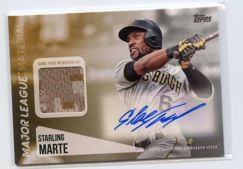 Photo of 2019 Topps Major League Materials Autographs #MLARSMA Starling Marte 48/50