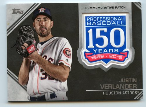 Photo of 2019 Topps 150th Anniversary Manufactured Patches #AMPJV Justin Verlander S2