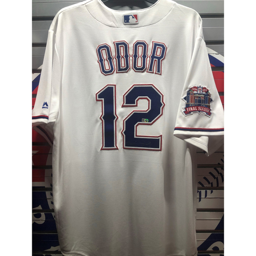 Photo of Rougned Odor Autographed White Replica Jersey