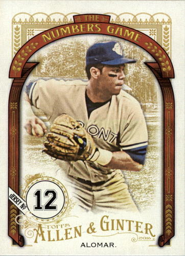 Photo of 2016 Topps Allen and Ginter The Numbers Game #NG42 Roberto Alomar