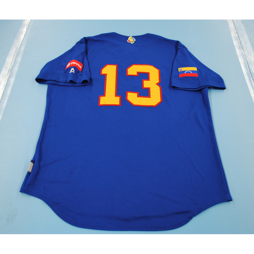 Photo of 2017 World Baseball Classic: Venezuela Batting Practice Jersey #13 - Omar Vizquel