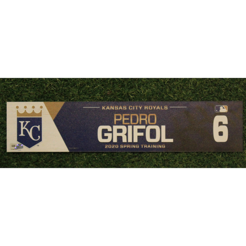 Photo of Game-Used Spring Training Locker Tag: Pedro Grifol #6