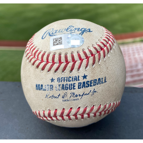 Photo of Cardinals Authentics: Game Used Baseball Pitched by Giovanny Gallegos to Nelson Cruz *Home Run*