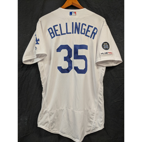 Photo of Cody Bellinger Team-Issued 2019 Home Jersey