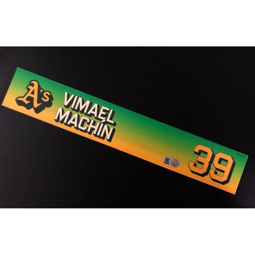 Photo of Game-Used 2020 Season Locker Nameplate - Vimael Machin