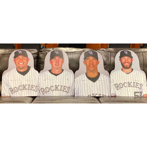 Photo of Colorado Rockies Foundation: NL All-Star Set: Matt Holliday, Brad Hawpe, Ubaldo Jimenez, and Greg Holland.