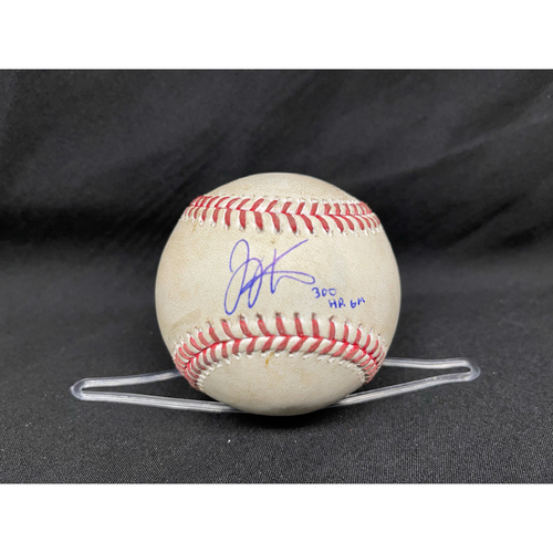 Photo of Joey Votto *Game-Used, Autographed & Inscribed* Baseball from 300th Career HR Game - Lucas Sims to Kris Bryant (Walk); to Anthony Rizzo (Strike) -- 04/30/2021 - CHC vs. CIN - Top 9