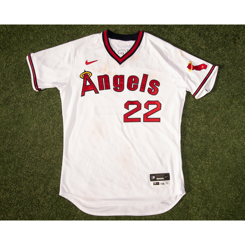 Photo of David Fletcher  Game Used 70's Throwback Uniform (pants not pictured but are included), worn 7/30/21 & 7/31/21 vs. OAK