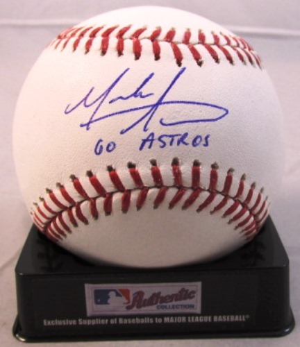 "Photo of Mark Appel Autographed ""Go Astros"""" Baseball"