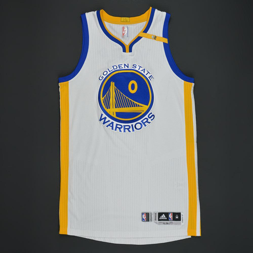Patrick McCaw - Golden State Warriors - White Playoffs w/ 42 Patch Game-Worn Jersey - 2016-17 Season