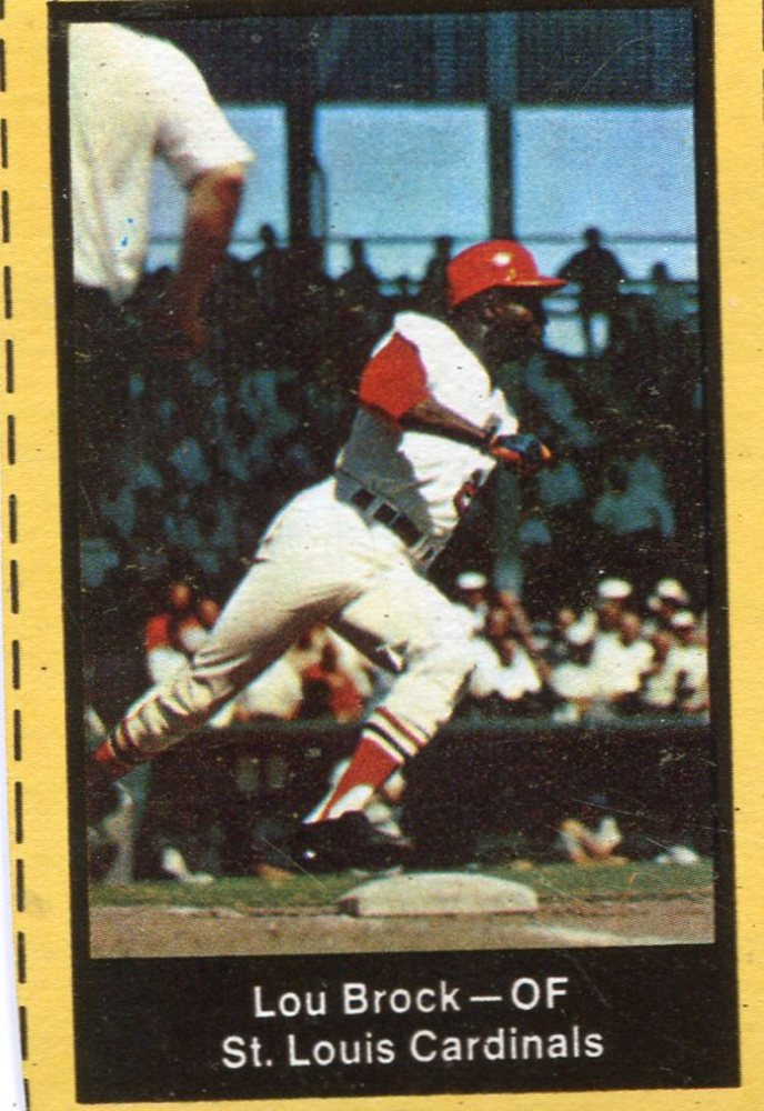1969 Nabisco Team Flakes #3 Lou Brock S2