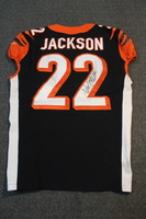 CRUCIAL CATCH - BENGALS WILLIAM JACKSON SIGNED AND GAME WORN BENGALS JERSEY (OCTOBER 29, 2017) SIZE 40