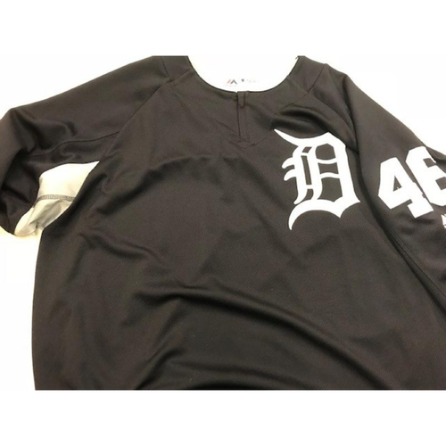 Photo of 2017 Team-Issued #46 Home Batting Practice Jersey