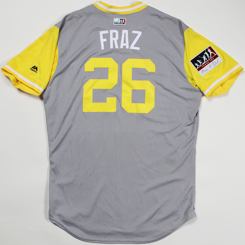 "Photo of Adam ""Fraz"" Frazier Pittsburgh Pirates Game-Used Jersey 2018 Players' Weekend Jersey"
