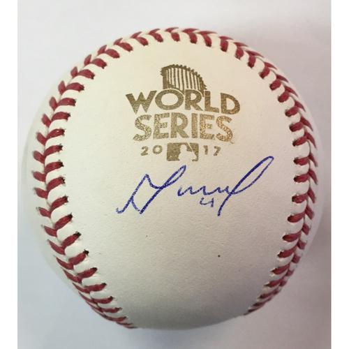 Photo of Jose Altuve Autographed 2017 World Series Logo Baseball