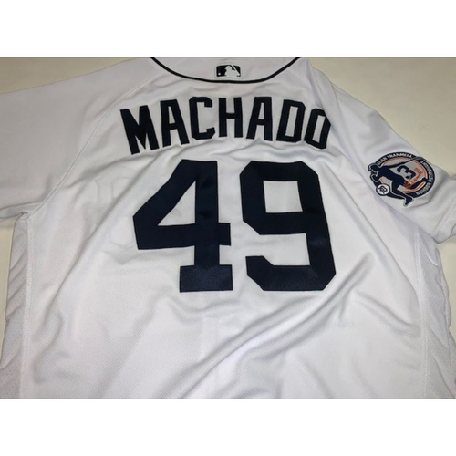 Photo of Team-Issued Alan Trammell Number Retirement Day Jersey: Dixon Machado