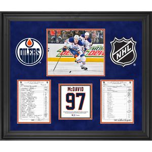 Edmonton Oilers Framed Original Line-Up Cards from April 9 2d55dd99a